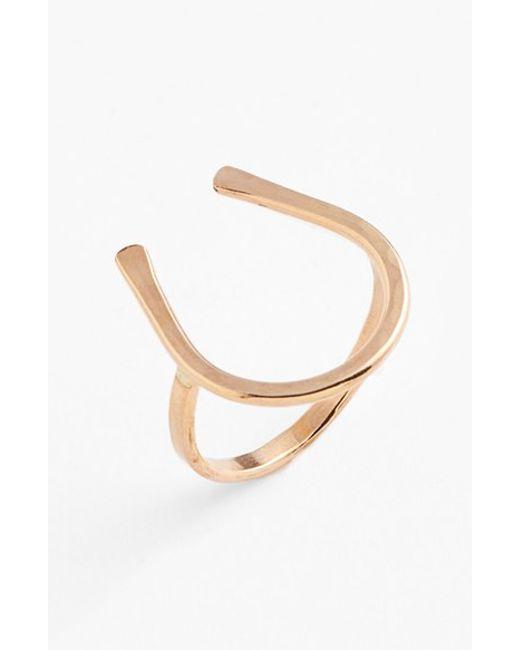 Nashelle | Metallic Ija Horseshoe Ring | Lyst