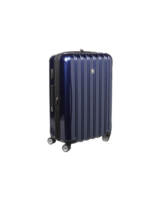 delsey helium aero 29 expandable spinner trolley in blue cobalt blue lyst. Black Bedroom Furniture Sets. Home Design Ideas