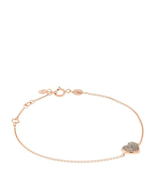 Links of London | Metallic Diamond Essentials Pavã© Heart Bracelet | Lyst