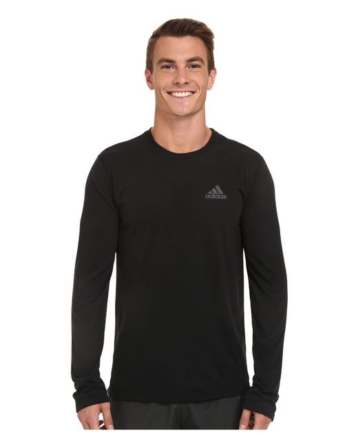 Adidas Originals | Black Ultimate Long Sleeve Crew Tee for Men | Lyst