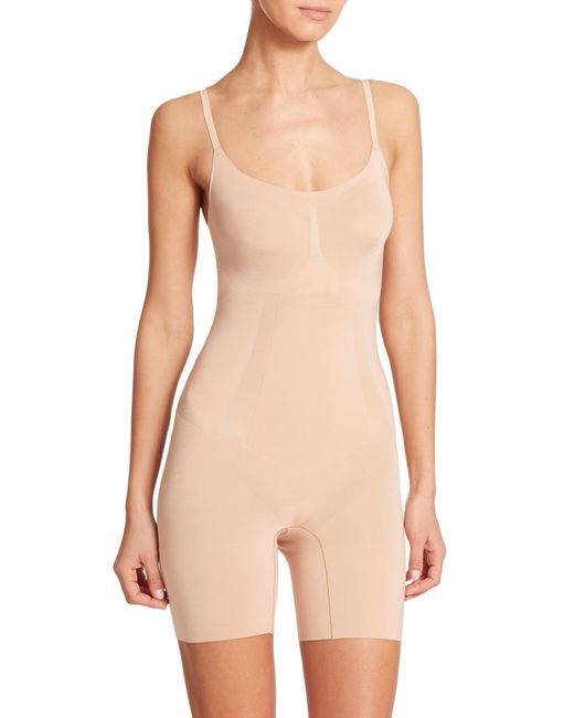 Spanx | Natural Oncore Midthigh Bodysuit | Lyst
