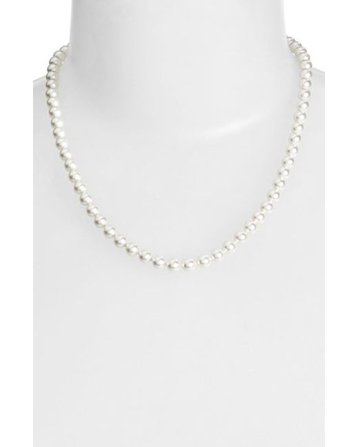 Nadri | White Faux Pearl Collar Necklace | Lyst