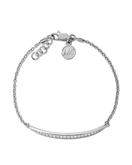 Michael Kors   Metallic Clear Bar Slide Bracelet   Lyst