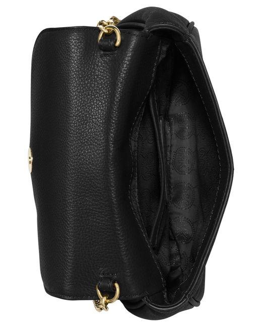 Michael Kors | Black Michael Bedford Small Crossbody Saddle Bag | Lyst