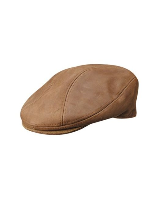 Stetson   Brown Leather Driving Cap for Men   Lyst
