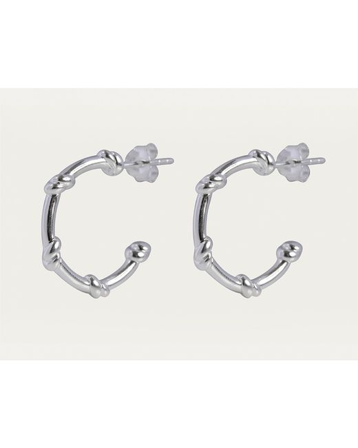 Davina Combe | Metallic Silver Knot Hoops | Lyst