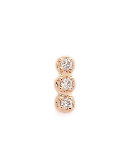 Ginette NY   Metallic Solo Diamond Strip Stud Earring   Lyst