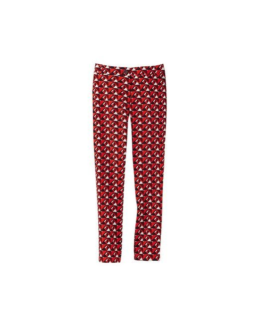 Petit Bateau | Red Women's Tight-fitting Pants With Striking Print | Lyst