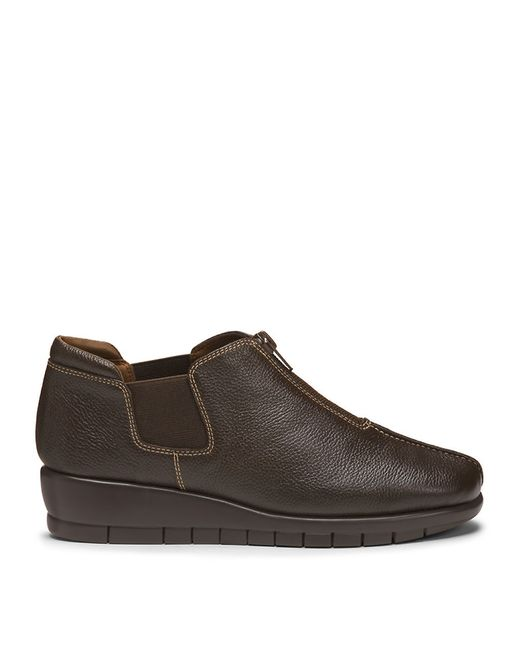 Aerosoles   Brown Landfall Leather Wedge Loafers   Lyst