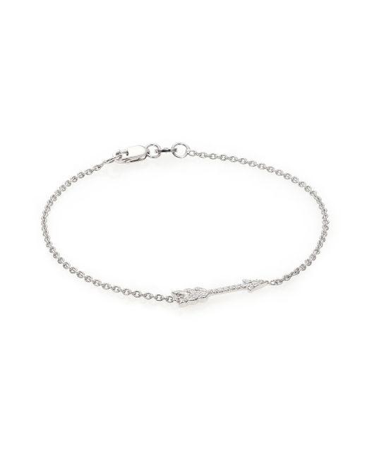 Roberto Coin | Metallic Tiny Treasures Diamond & 18k White Gold Arrow Bracelet | Lyst