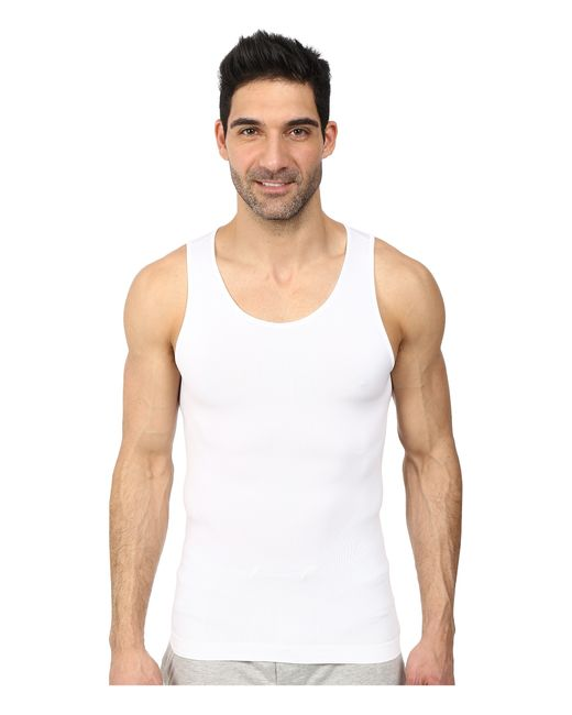 Spanx | White Targeted Core Tank for Men | Lyst
