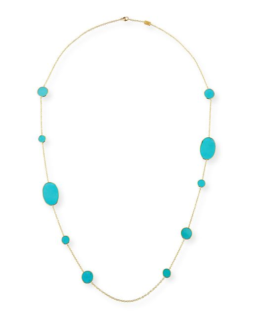 Ippolita | Blue 18k Rock Candy Turquoise Station Necklace | Lyst