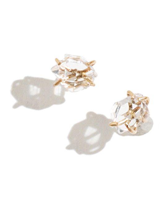 Melissa Joy Manning | Metallic Herkimer Diamond Stud Earrings | Lyst