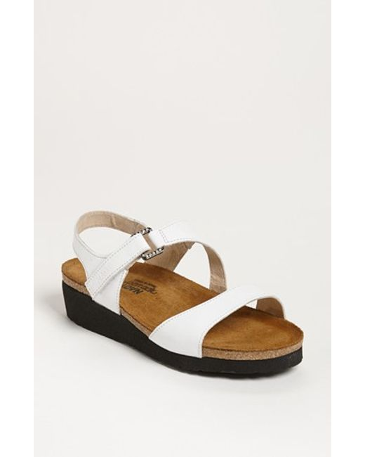 Naot | White 'pamela' Sandal | Lyst