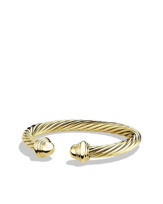 David Yurman | Metallic Cable Classics Bracelet In 18k Gold, 7mm | Lyst