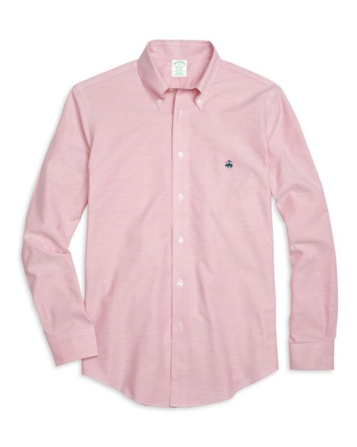 Brooks Brothers | Pink Non-iron Milano Fit Oxford Sport Shirt for Men | Lyst