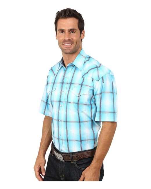 Stetson   Blue Smokey Ombre Plaid Flat Weave W/ Satin for Men   Lyst