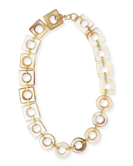 Ashley Pittman | Metallic Mbele Light Horn Geometric Necklace | Lyst