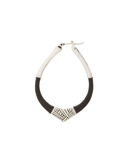 The Sak | Black String Forward Third Arabesque Hoop Earring | Lyst