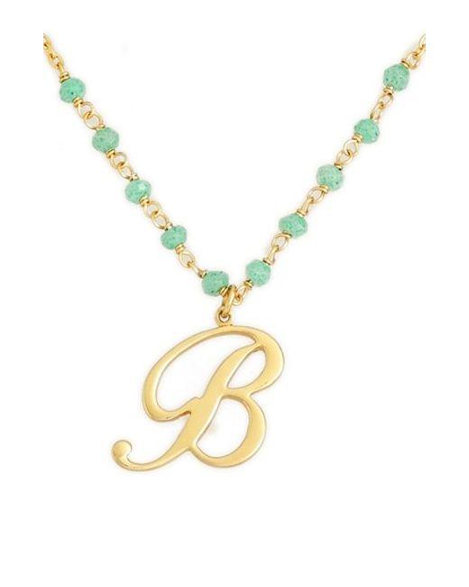 Argento Vivo | Blue 'rondelle' Initial Pendant Necklace | Lyst