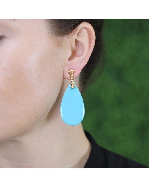 Lucifer Vir Honestus | Blue Turquoise Parrucchino Earrings | Lyst