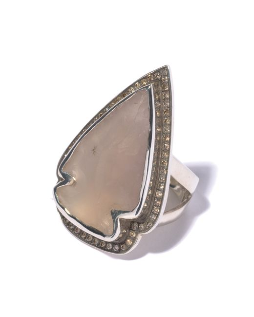 Pamela Love | Metallic Jasper Diamond Ring - Size 7 | Lyst