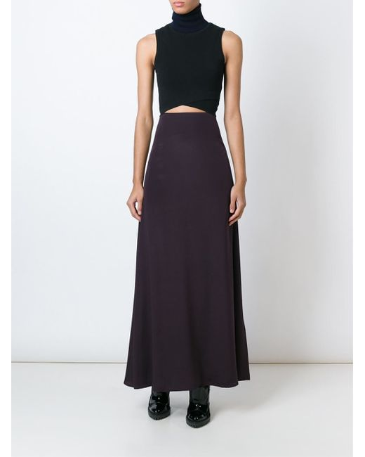 kenzo a line maxi skirt in pink pink purple lyst