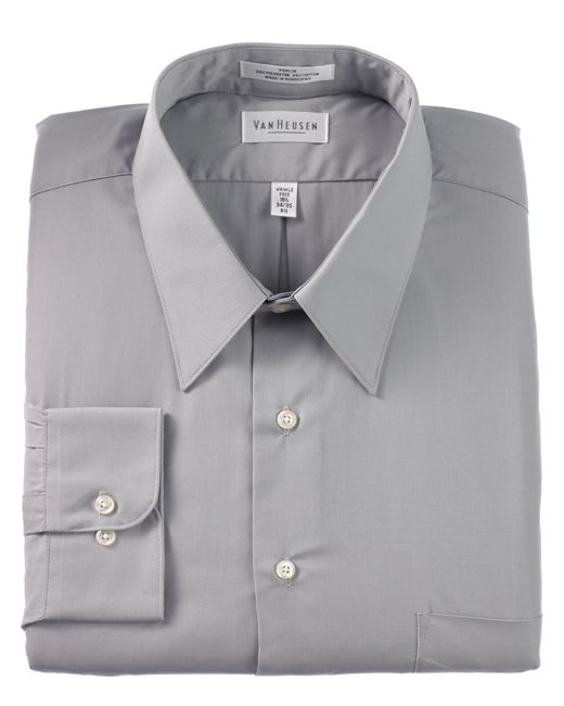 van heusen big and tall wrinkle free poplin dress shirt in