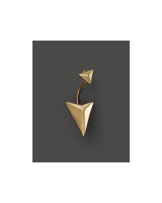 Zoe Chicco | Metallic 14k Yellow Gold Arrowhead Single Earring Jacket | Lyst