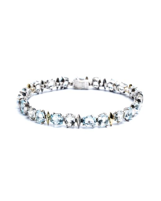 Alexis Bittar | Blue Silver Lake Marquis Small Tennis Bracelet With 18k Gold Marquis You Might Also Like | Lyst
