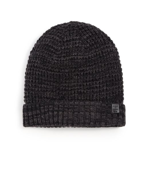 Bickley + Mitchell | Black Faux Sherpa-lined Thermal Cuff Beanie for Men | Lyst