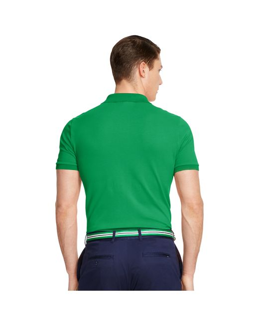 pink pony custom fit stretch mesh polo in green for men lyst. Black Bedroom Furniture Sets. Home Design Ideas