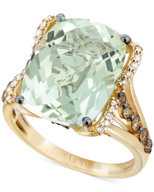 Le Vian | Green White Diamond (1/8 Ct. T.w.) And Chocolate Diamond (3/8 Ct. T.w.) Ring In 14k Gold | Lyst