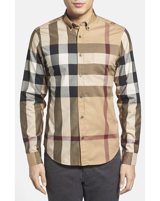 Burberry Brit | Multicolor 'fred' Trim Fit Sport Shirt for Men | Lyst