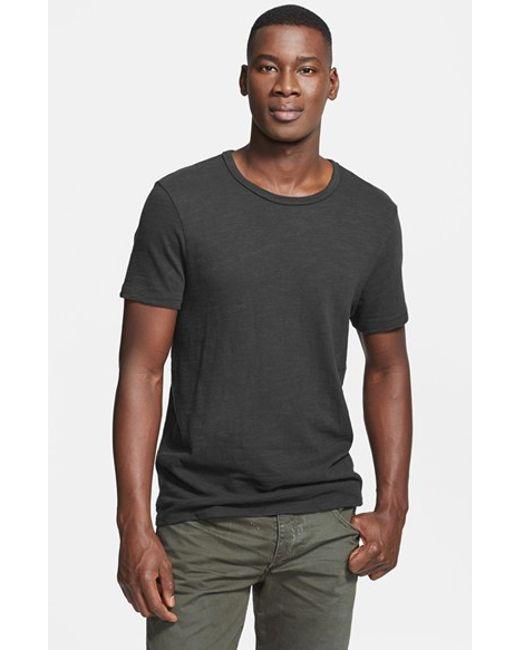 Rag & Bone | Black Standard Issue Slubbed Cotton T-shirt for Men | Lyst