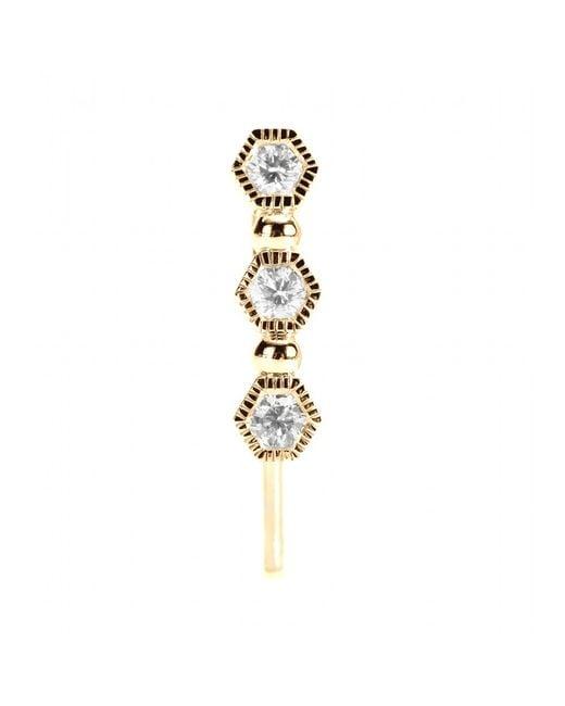 Stone Paris | Metallic Charmante 18kt Gold Single Earring With Diamonds | Lyst