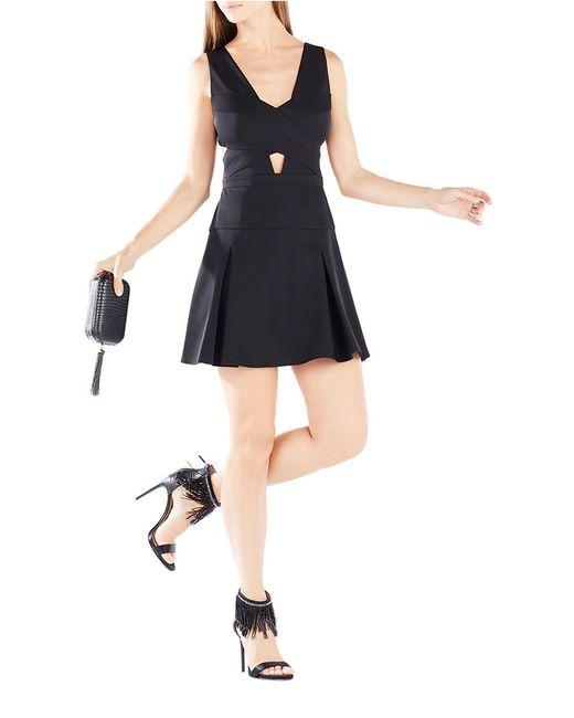 BCBGMAXAZRIA | Black Cutout A-line Dress | Lyst