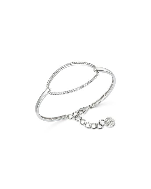 KC Designs | Metallic Diamond Oval Bangle Bracelet In 14k White Gold | Lyst