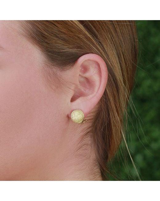 Carolina Bucci   Metallic Mirador Small Sparkly Gold Earrings   Lyst