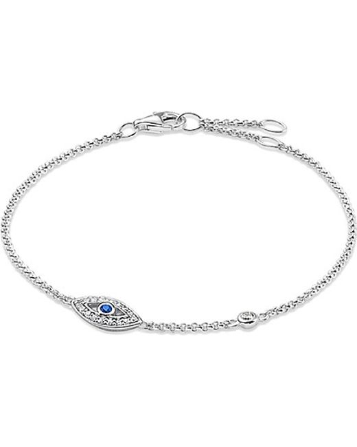 Thomas Sabo | Metallic Fatima's Garden Sterling Silver And Zirconia-pavé Bracelet | Lyst