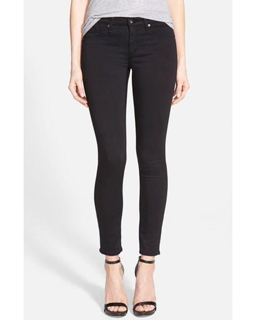 AG Jeans | Black 'the Legging' Sateen Ankle Jeans | Lyst