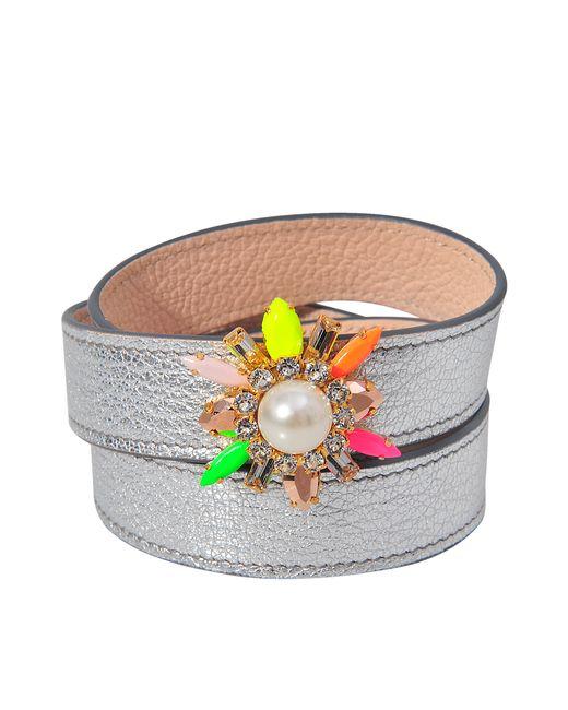 Shourouk   Metallic Triple Wrap Beedis Bracelet   Lyst