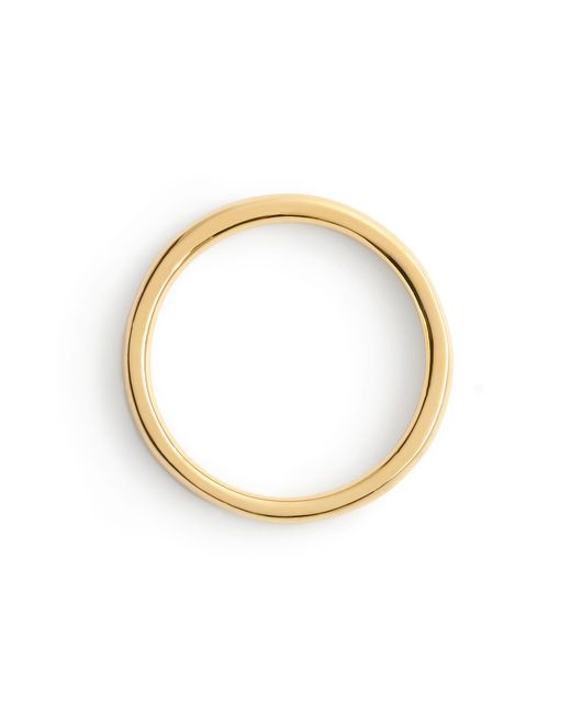 J.Crew | Metallic 14k Gold 2mm Rounded Band | Lyst