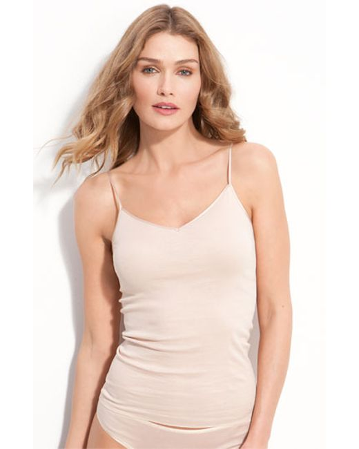 Hanro | Natural Seamless V-neck Camisole | Lyst