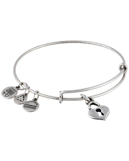 ALEX AND ANI | Metallic Key To My Heart Charm Bangle | Lyst