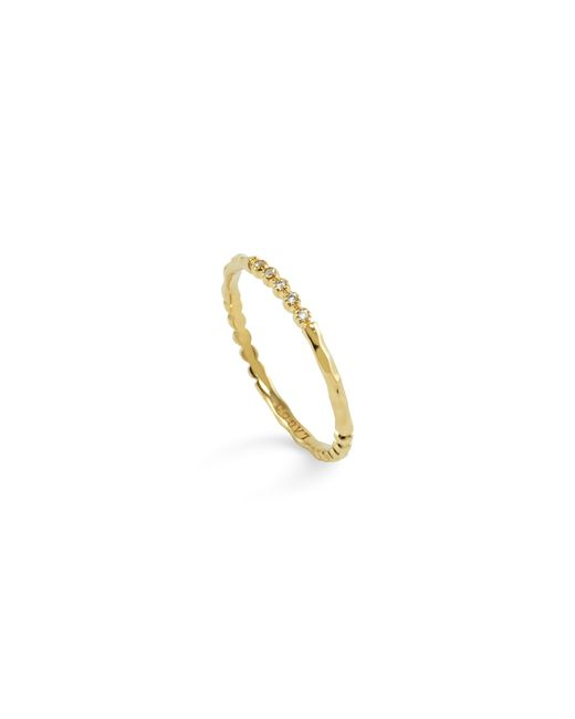 Lagos | Metallic 18k Gold And Diamond Stackable Ring | Lyst