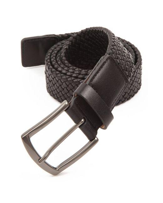 Trafalgar | Black 'ethan' Braided Leather Belt for Men | Lyst