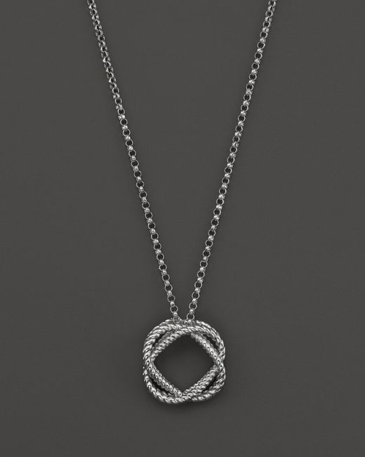 Roberto Coin 18k White Gold Small Twisted Circle Pendant