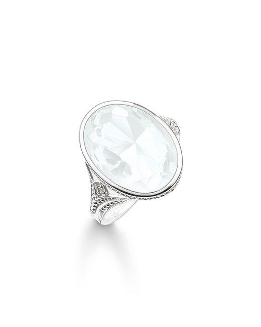 Thomas Sabo | Metallic Purity Of Lotos White Cocktail Ring | Lyst