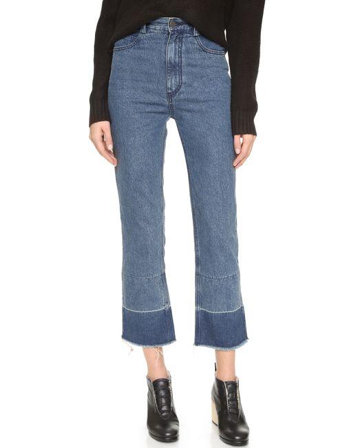 Rachel Comey | Blue 'tolleson' Cropped Wide Leg Denim Pants | Lyst